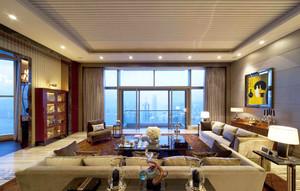 大户型东南亚风格客厅吊顶设计效果图鉴赏