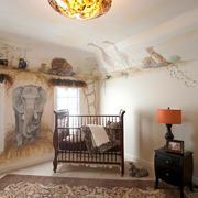 美式风格创意儿童房手绘墙装修效果图鉴赏