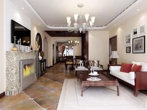 复古风格两室两厅室内装修效果图赏析