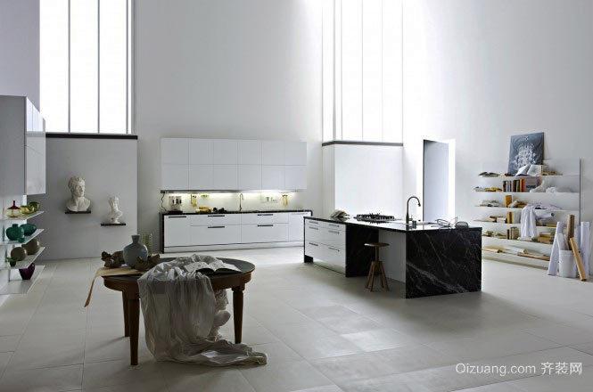 现代简约风格开放式厨房装修大全