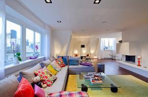 现代简约风格客厅沙发摆放装修效果图鉴赏