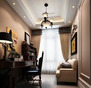18平米古典美式风格小书房装修设计效果图赏析