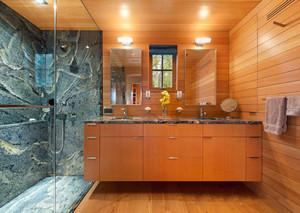 6平米现代美式风格卫生间淋浴房装修效果图赏析