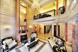 欧式风格别墅室内整体装修效果图赏析