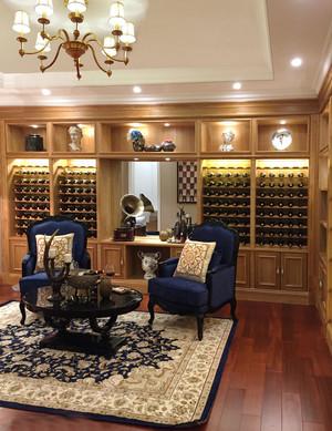 145平米欧式风格客厅酒柜设计效果图赏析