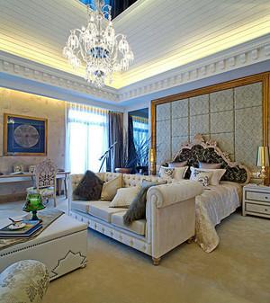 30平米欧式风格卧室背景墙装修设计效果图
