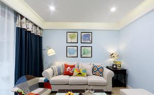 清新自然美式风格两室两厅一厨一卫装修效果图