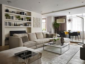 200平米日式简约风格别墅室内装修效果图赏析