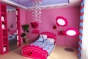 现代简约风格明亮儿童房装修效果图