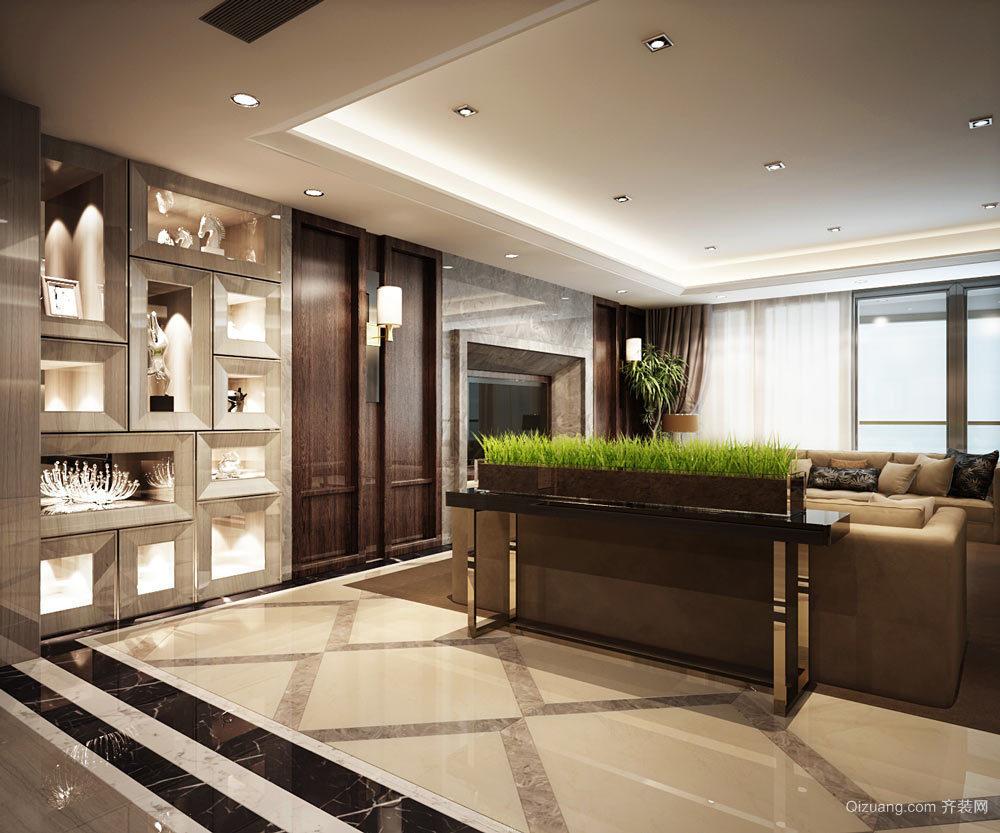 古典精致现代中式风格大户型室内装修效果图
