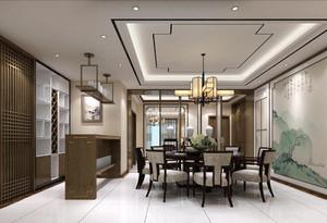 精致古韵中式风格餐厅背景墙装修效果图赏析