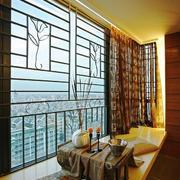 中式风格大户型室内飘窗设计装修效果图