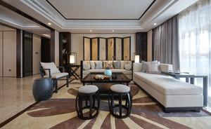 中式风格大户型客厅屏风设计效果图赏析