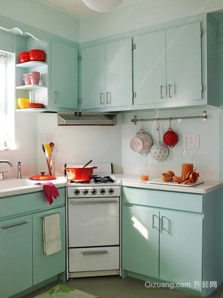 小户型现代开放式厨房装修效果图实例
