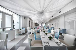 120平米欧式风格酒店餐厅设计装修效果图赏析