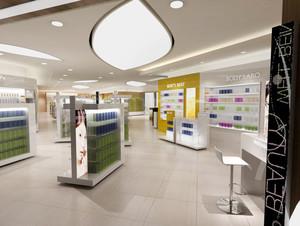 120平米现代简约风格商铺展柜装修效果图鉴赏