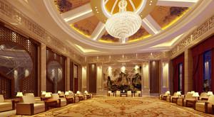 155平米中式风格会客厅装修设计效果图赏析