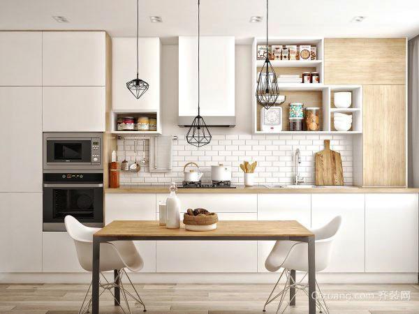 北欧风格小户型厨房餐厅连体装修效果图大全