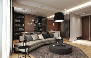 后现代风格小户型客厅创意书架装修效果图