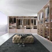 20平米后现代风格大户型室内整体衣帽间效果图