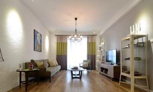现代风格一居室客厅窗帘设计效果图鉴赏