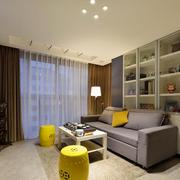 78平米现代简约风格客厅储物柜设计效果图赏析
