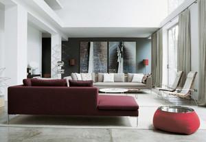 精致现代简约风格客厅整体装修效果图大全