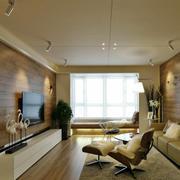 80平米现代风格客厅飘窗设计效果图鉴赏