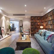 现代风格三居室客厅创意书架设计效果图鉴赏