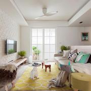 60平米北欧风格客厅装修设计效果图鉴赏