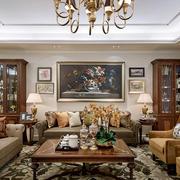 100平米古典欧式风格客厅装饰画装修效果图