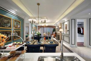 155平米美式风格大户型室内装修效果图