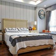 大户型美式风格卧室飘窗设计效果图