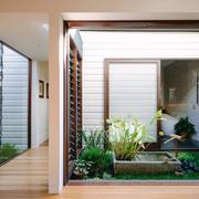 新中式风格别墅室内入户花园设计装修效果图