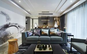 现代中式风格三室一厅一卫装修效果图赏析