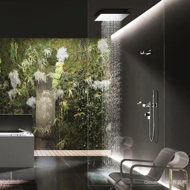 后现代风格创意卫生间淋浴房装修效果图大全