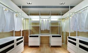 现代简约风格白色主题衣帽间装修效果图