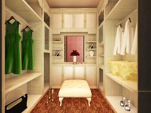 欧式风格别墅室内衣帽间整体衣柜装修效果图
