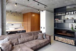 50平米后现代风格单身公寓装修效果图赏析