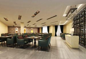 66平米简欧风格精致咖啡厅沙发装修效果图