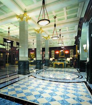 时尚混搭风格五星级酒店大堂设计装修效果图
