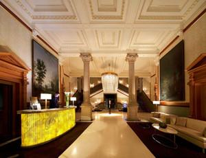 古典欧式风格豪华酒店大堂吊顶设计装修效果图
