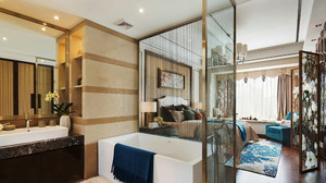 精致舒适新中式风格酒店客房装修效果图