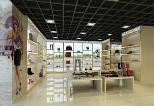 现代简约风格鞋店展柜装修效果图赏析