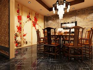 67平米中式风格餐厅包厢装修效果图鉴赏