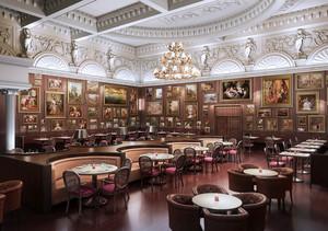 365平米欧式风格酒店大厅装修效果图