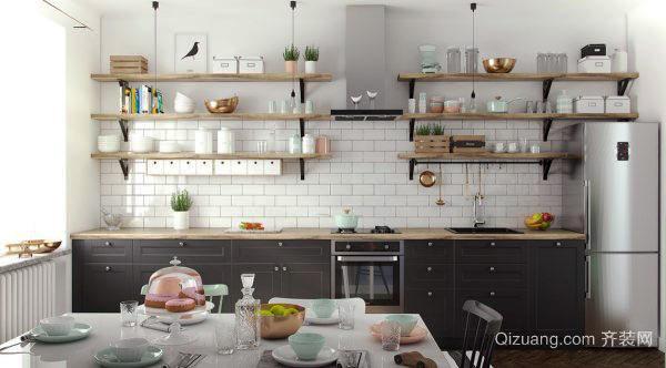 北欧风格自然简约小厨房装修效果图大全