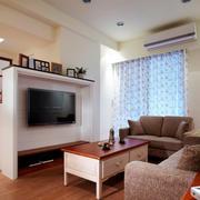 现代风格小户型客厅电视背景墙装修效果图鉴赏