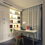 简约地中海风格大户型室内书房设计效果图