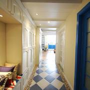 地中海风格大户型室内过道吊顶装修效果图赏析